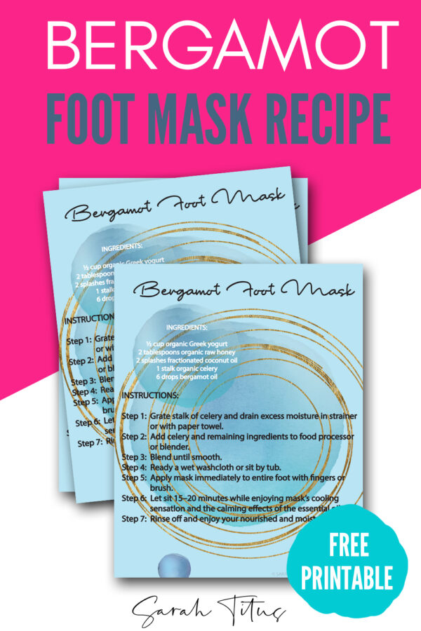 Making a Bergamot Foot Mask with essential oils, yogurt and honey can get your feet summertime ready for sandals in no time! Mix it up tonight and see great results!
