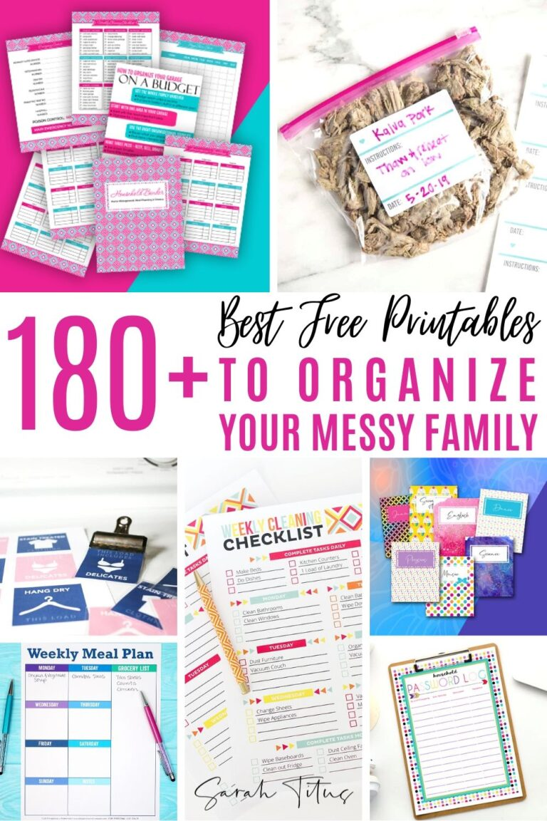 I don't know about you, but my family are pigs. It's a lot to keep them organize but these free printables to organize your messy family REALLY help!! :)