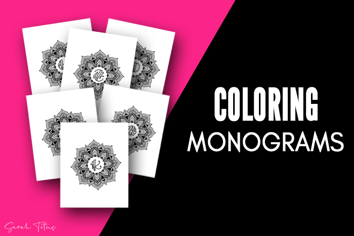 Free Coloring Monogram Letter Printables To Download