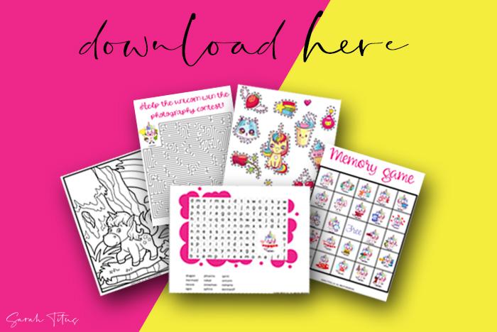 Fun Free Printable Unicorn Template Games