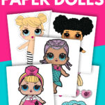 Are your kids excited about paper dolls? These modern paper dolls printable free templates are great fun for children (boys or girls). Includes various outfit clothes and accessories are also available cut outs too! #princess #LOL