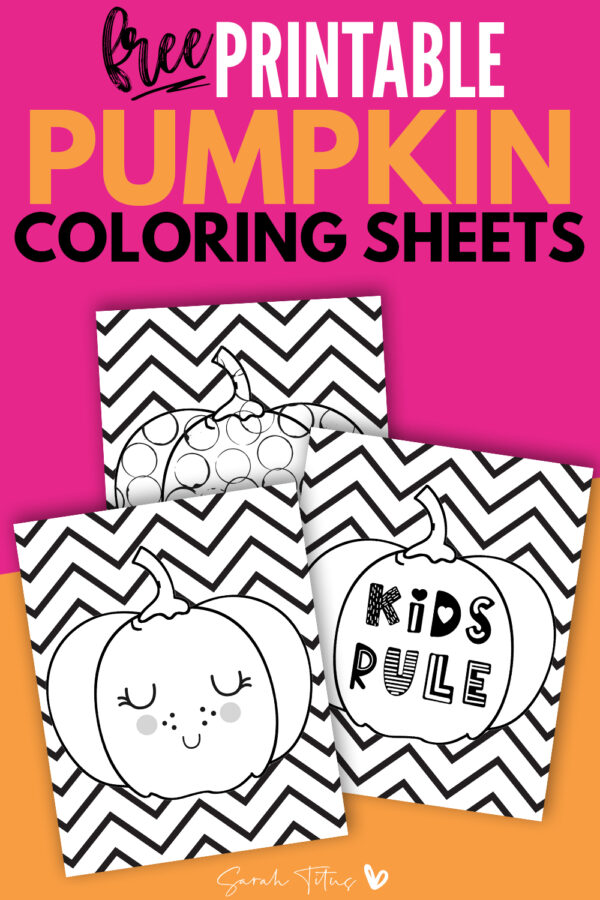 Grab these free coloring pages for kids and let them have tons of fun coloring these pumpkin coloring pages! These fall coloring pages are perfect for your kids or your classroom! Grab them here! #printable #kidscoloringpages #coloringsheets #coloring #fall #pumpkin