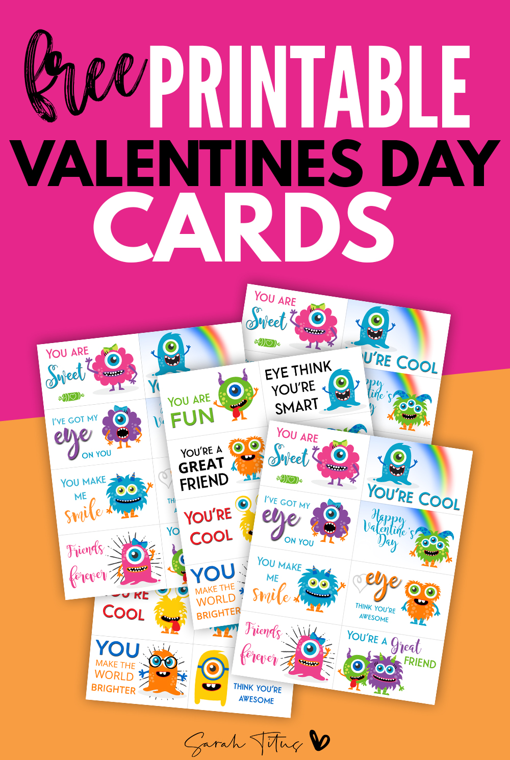 Free Printable Valentine Cards Sarah Titus From Homeless To 8 Figures