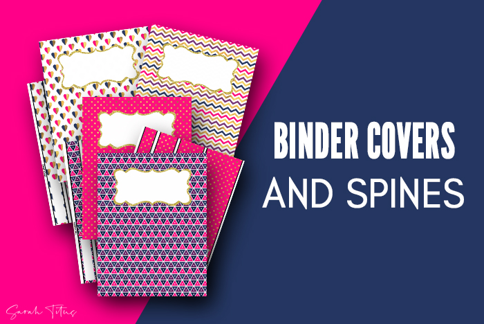 7 Cute Binder Covers Printable Free With Matching Spine Art