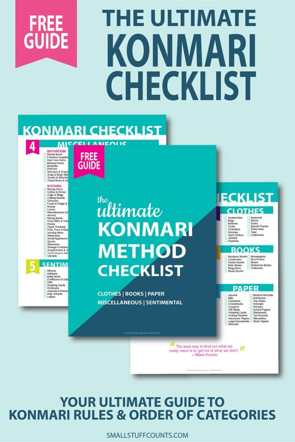 Decluttering is not an easy job to tackle which is why these free Konmari checklists will help you reach your goals much faster if you complete the tasks in the order they have been listed.
