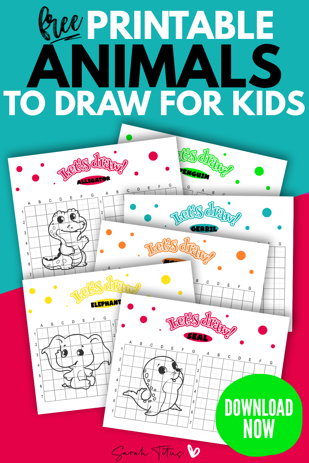 31 Easy Cute Animals To Draw Step By Step Free Printable Sarah Titus From Homeless To 8 Figures