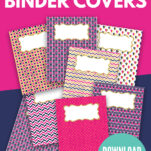 Are you looking for cute binder covers printables? These free templates are perfect for girls and for boys to organize school subject work! They come with matching spine pictures too! #simple #teacher