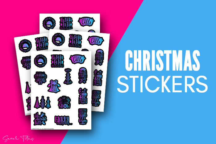 Beautiful Free Christmas Stickers For Envelopes And Cards