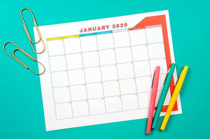 I love this simple and colorful calendar planner that can be used for school, work, and home planning.