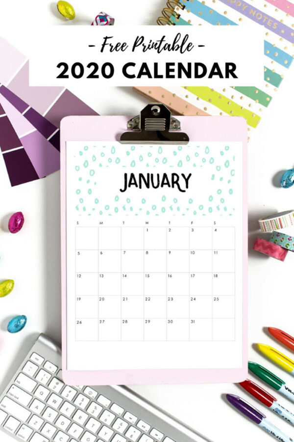 A fresh pattern every month will definitely make this year's planning more fun!