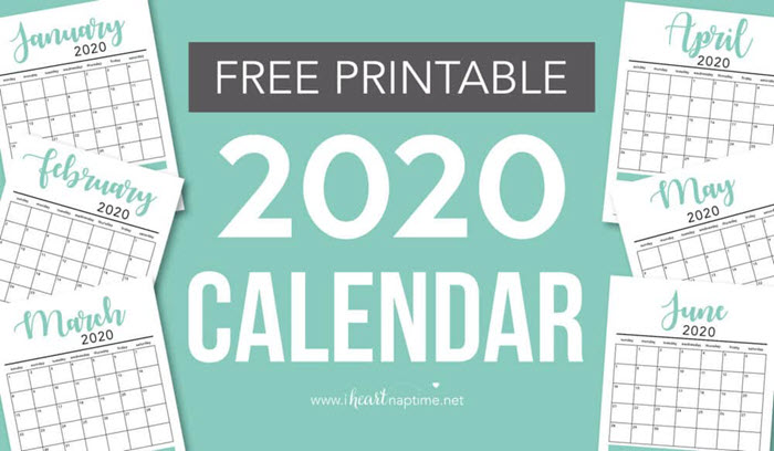 The notes section included in this practical 2020 calendar is super useful, don't you think?