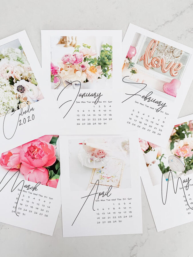 Print this superb photo calendar on card stock and you'll have an amazing DIY gift!