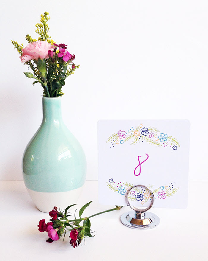 These cute floral table numbers are great for almost any kind of event from parties to birthdays, and weddings.