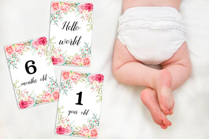 Great photos mean wonderful memories and these adorable milestone cards are perfect for getting styled shots of your precious little one as he's growing!