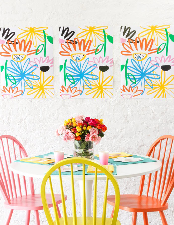 Spring's vivid colors are among my favorite and this printable art is the perfect way to use them in your décor.