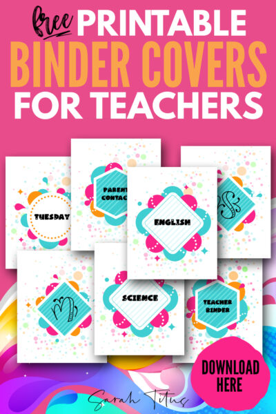 All teachers NEED these free printable binder covers! These templates are not only cute designs, but they will help keep a note of all important information about your students and classes! #kids