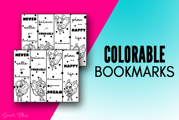 Cute Fairies Free Printable Bookmarks To Color