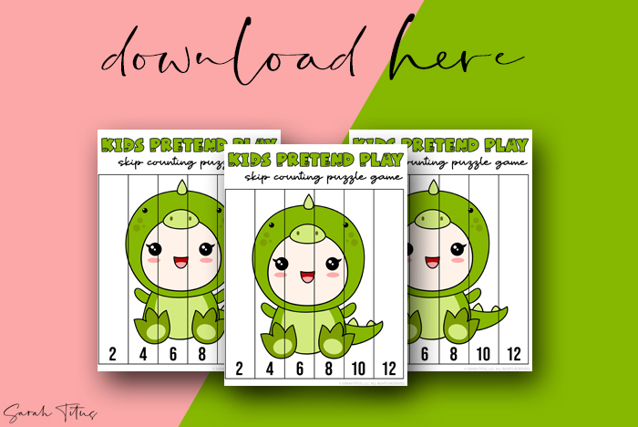 Cutest Art Skip Counting Games Puzzle Printables For Kids