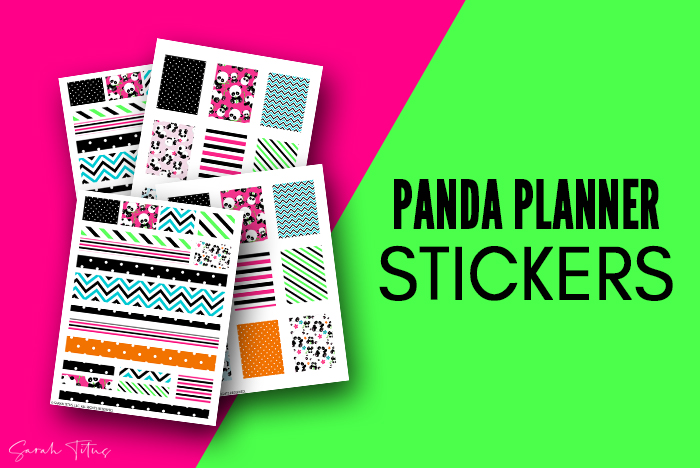 Cutest Panda Art Free Printable Stickers For Planners