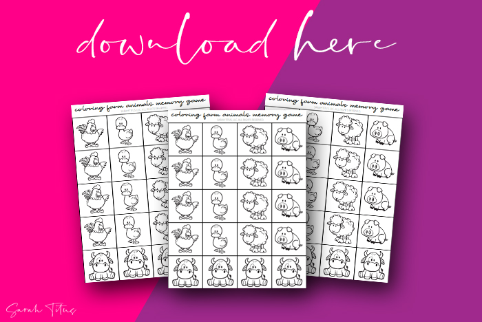 Cutest Printable Memory Games For Kids To Play