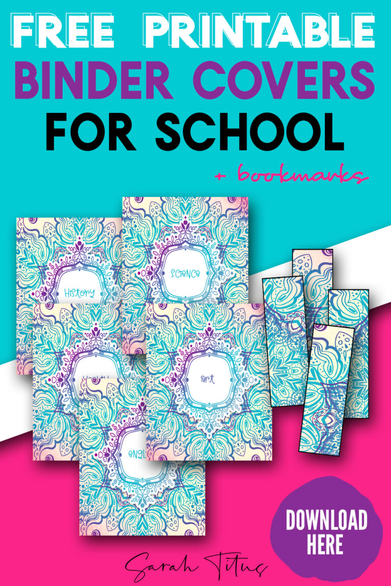 Love binder covers? These colorful free printable binder covers are perfect for a school student! You'll be the envy of all the kids and even your teacher with these fun templates!