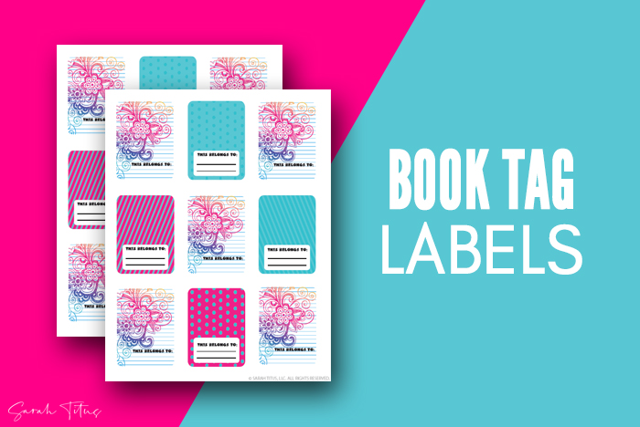 Modern Cute Personalized Labels For Books For Teens