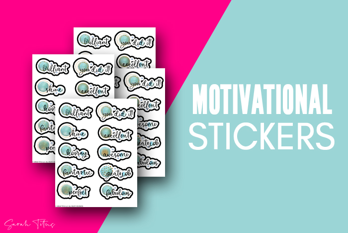 Motivational Free Stickers For Planner Printable Blue Gold Art