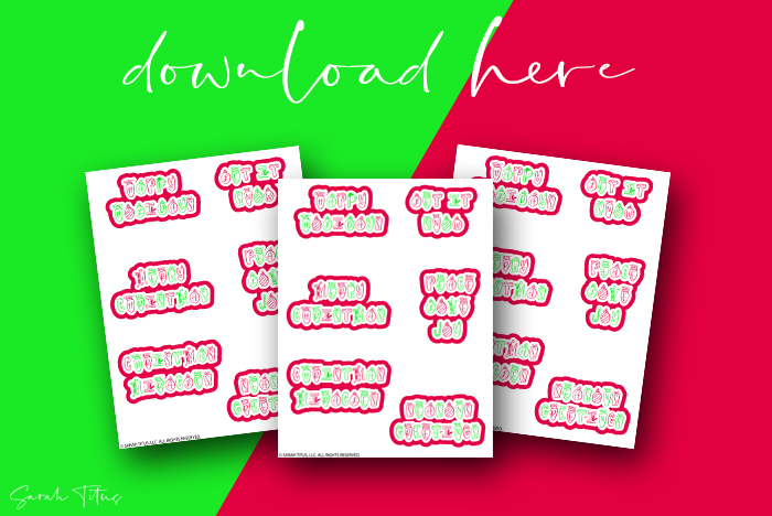 Printable Free Christmas Holiday Planner Stickers For You