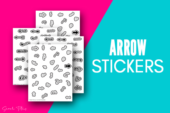 Stylish Cute Free Stickers Printable Arrows Art