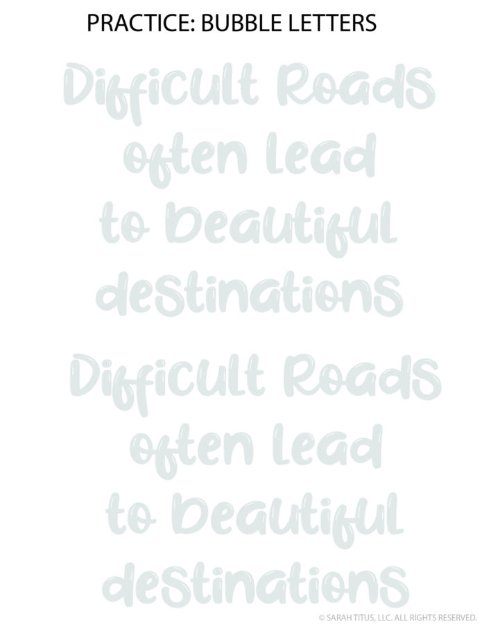 30 Awesome Motivational Quote Hand Lettering Practice Sheets For You