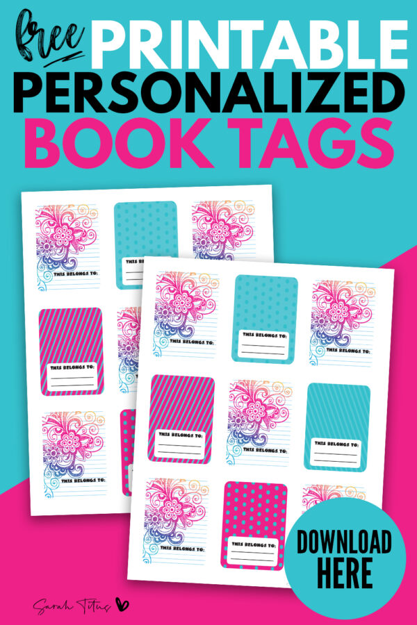 Looking for super cute personalized labels for books? These beautiful modern design FREE printable book label tag templates are perfect for teens & school students! They are easily personalized by writing your name on the blank space! #ideas #forkids #teacher