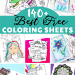 Have you ever tried coloring simply for fun & a stress reliever? These free coloring sheet printables for adults (or for kids too) are incredibly soothing & satisfying activities. It's the perfect art therapy & you can also use the colored sheets as wall art, gift wrap, bookmarks, placemats etc! Designs include floral, mandala, chameleon, mermaid & much more!
