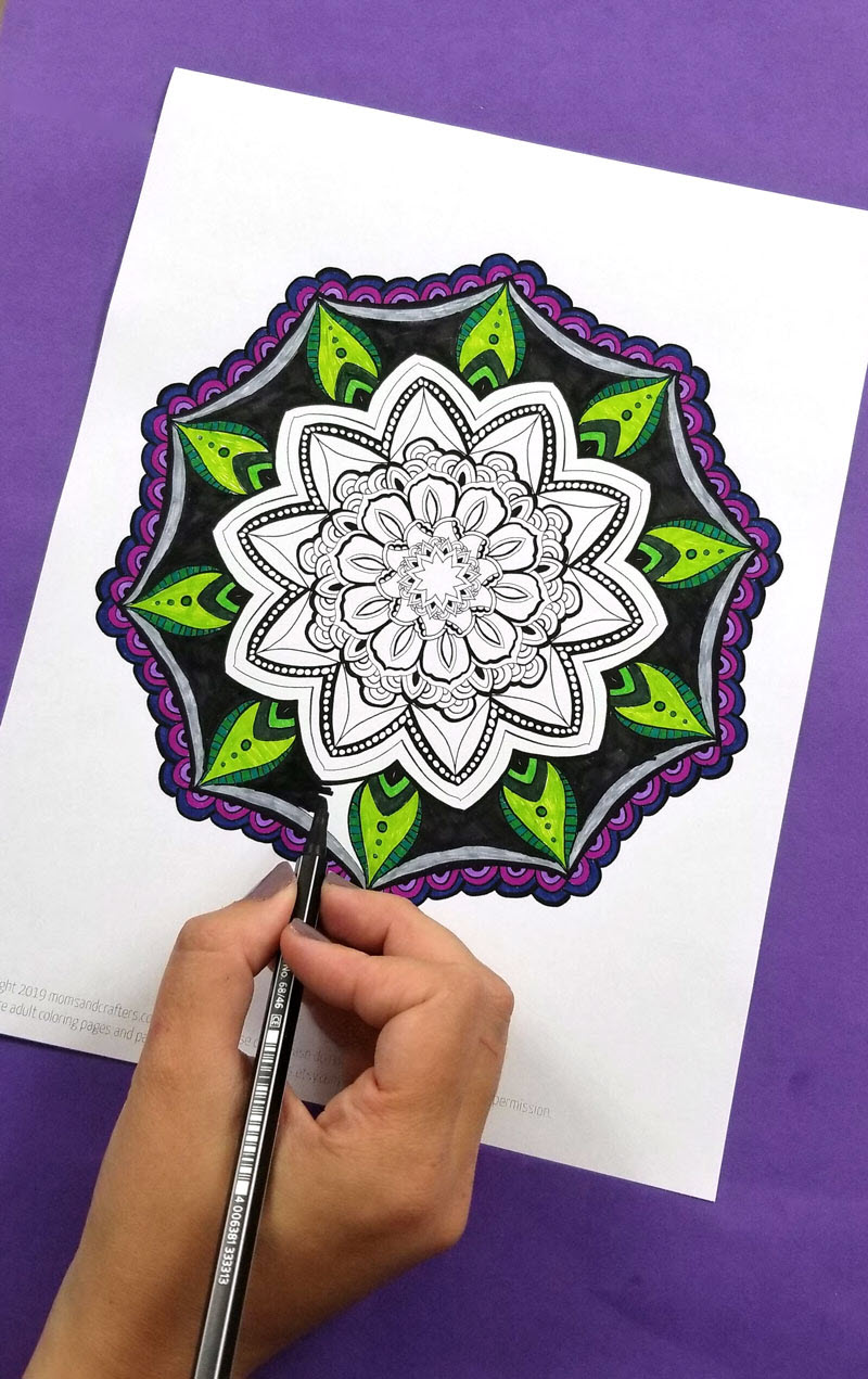 Mandalas are amazing to color but they would also make stunning wall art so you can definitely frame these free mandala coloring sheets.