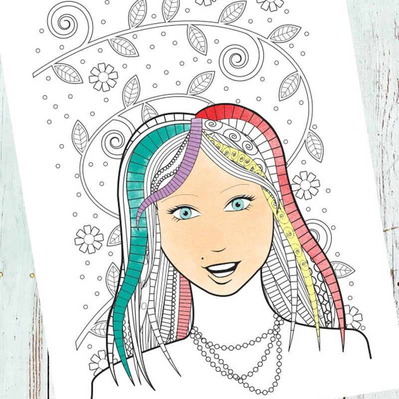 Face coloring pages are so awesome and coloring them is one of the most relaxing experiences ever.