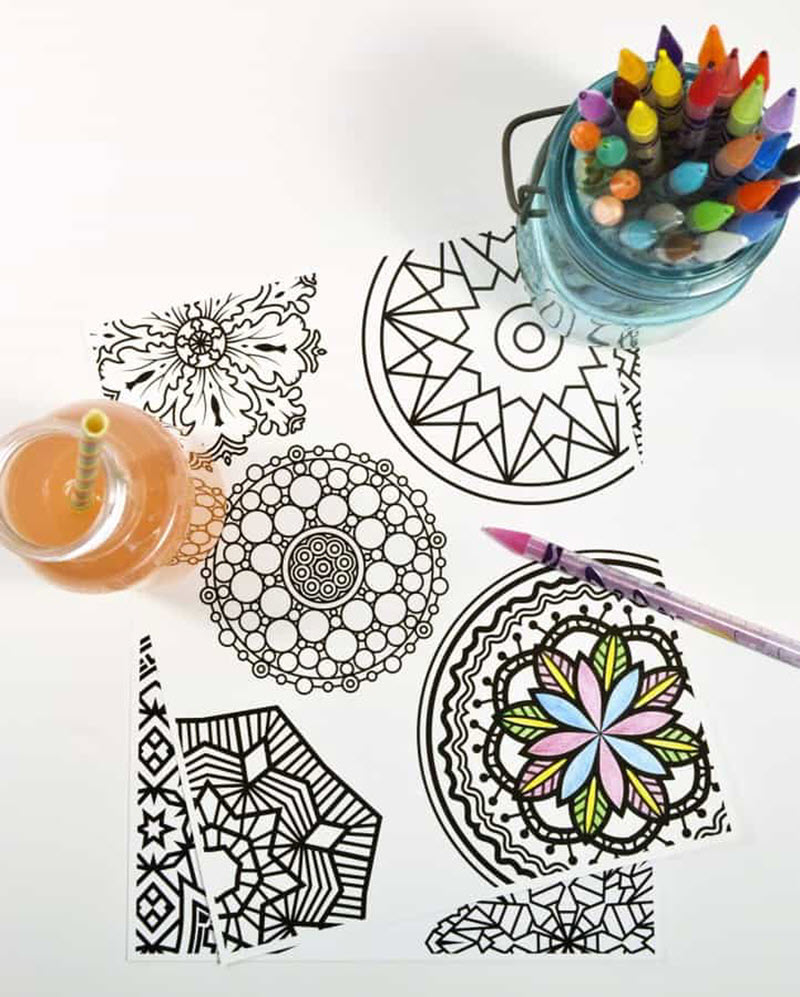 If you're not a coloring wizard yet, try these cute mandala sheets. They look wonderful when colored and their simple design is perfect for beginners.