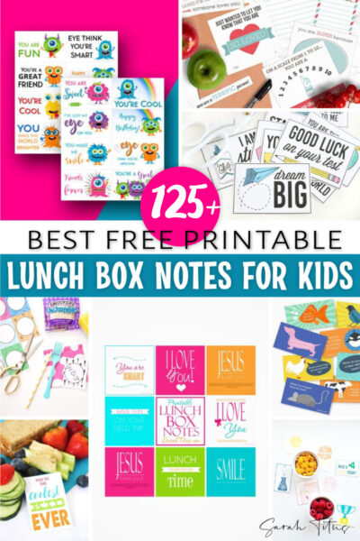 Are you looking for cute lunch box notes designs you can write on, or premade templates you can just print and cut? Here are some of the best FREE printable lunch box notes for kids (for girls and for boys), from funny jokes and puns to heartfelt or inspirational and encouraging messages! They are also perfect for adults and for friends too! #forteens #forhusband #forboyfriend #forValentine