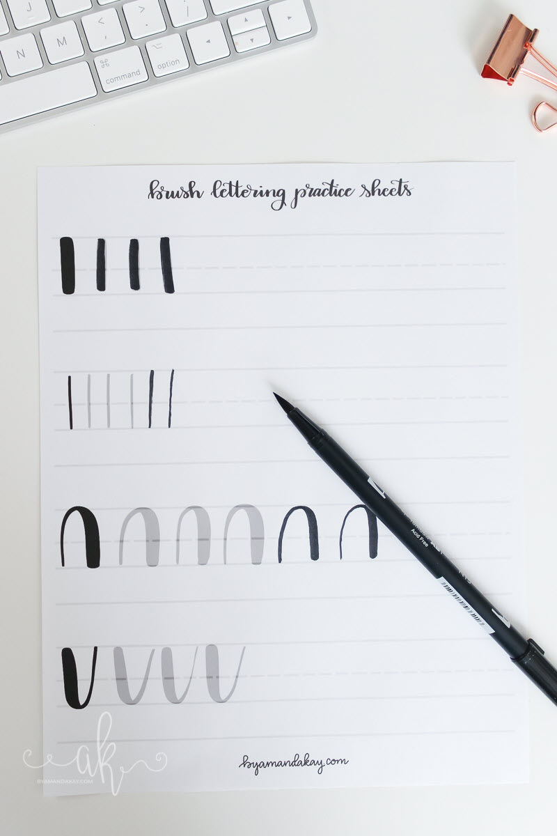 Basic strokes stand at the core of calligraphy so no matter how advanced you are it's a good idea to practice them every once in a while.