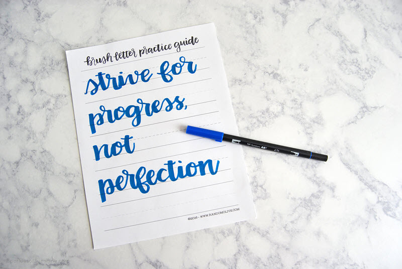 When you want to have some fun with your calligraphy skills print and use this worksheet. It's also a great reminder that consistency is key!