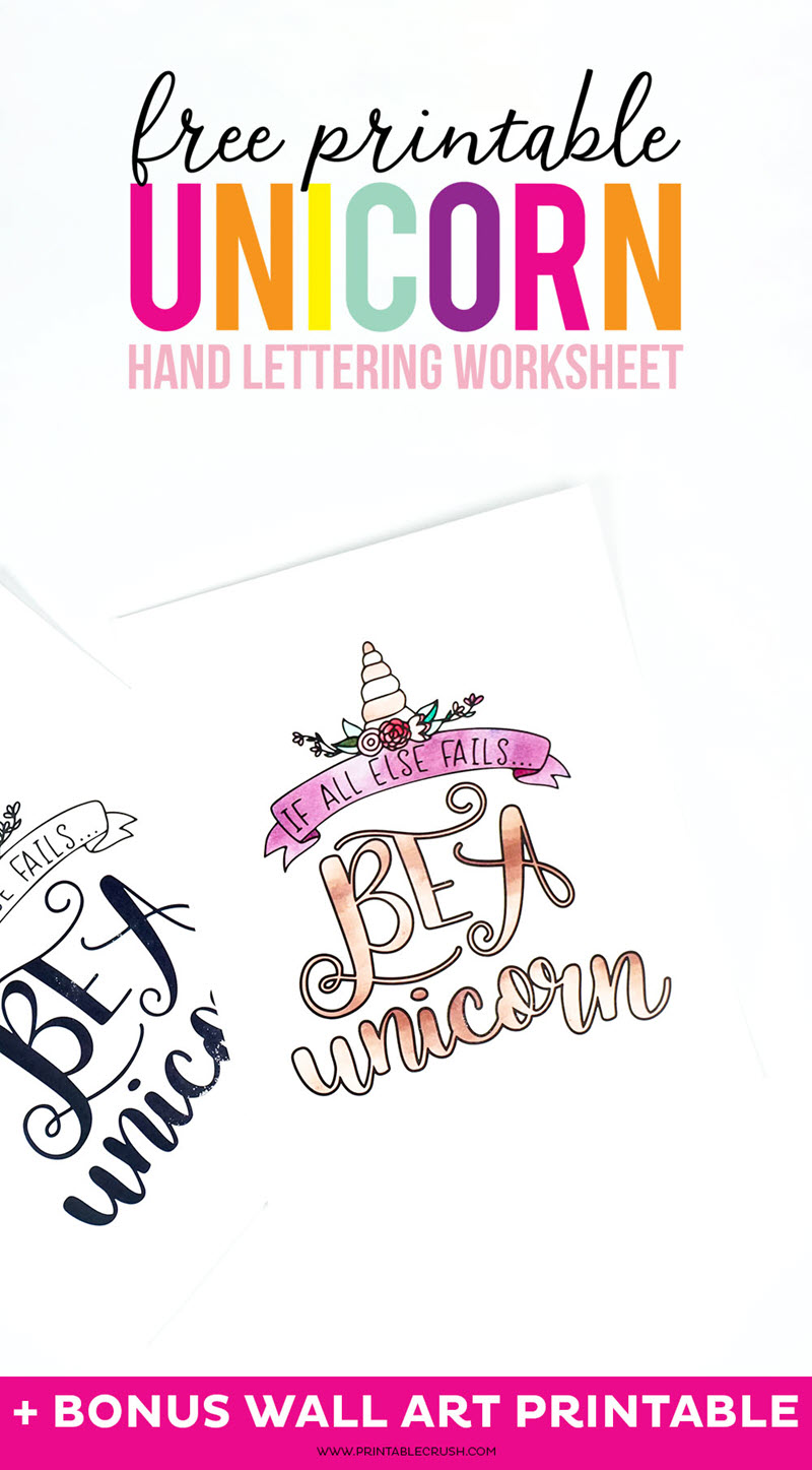 Unicorn wall art is even better if you hand-lettered it yourself!