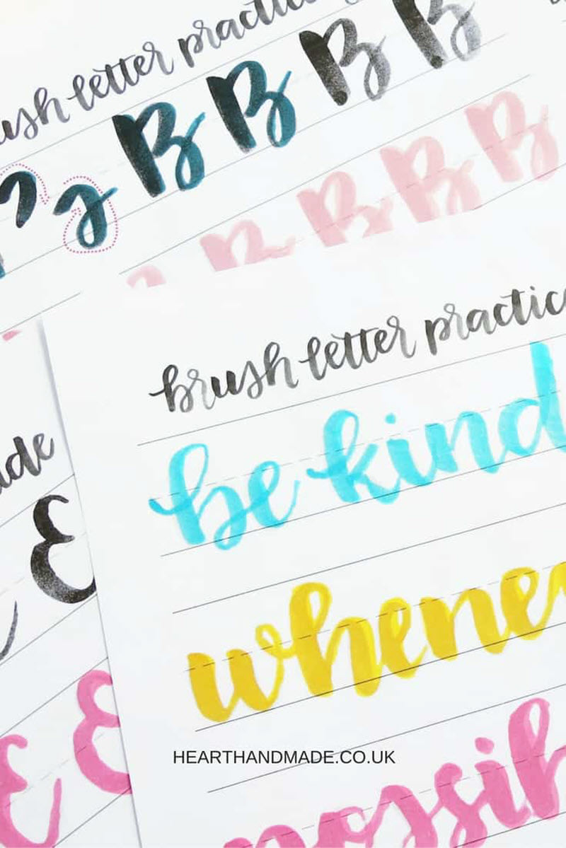 Brush pens are so nice to use when hand-lettering but they do take some time to master so if there's still room to improve give these worksheets a try.