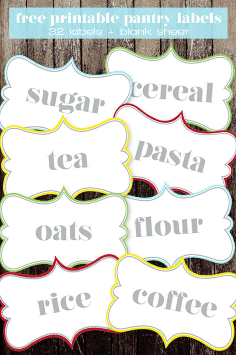 Add a pop of color to your pantry staple containers with these colorful labels you can print and cut in a few minutes!