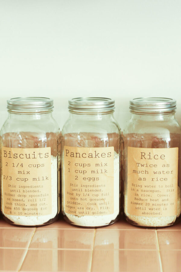 The vintage style of these pantry labels is amazing. The fact they also include basic recipes using the label ingredient is a super cool idea!