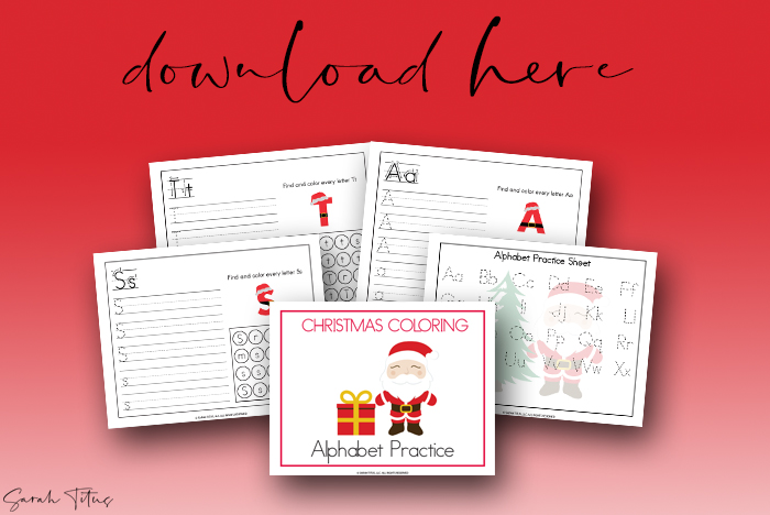 Christmas Art Cute Hand Lettering Practice Sheets Printable