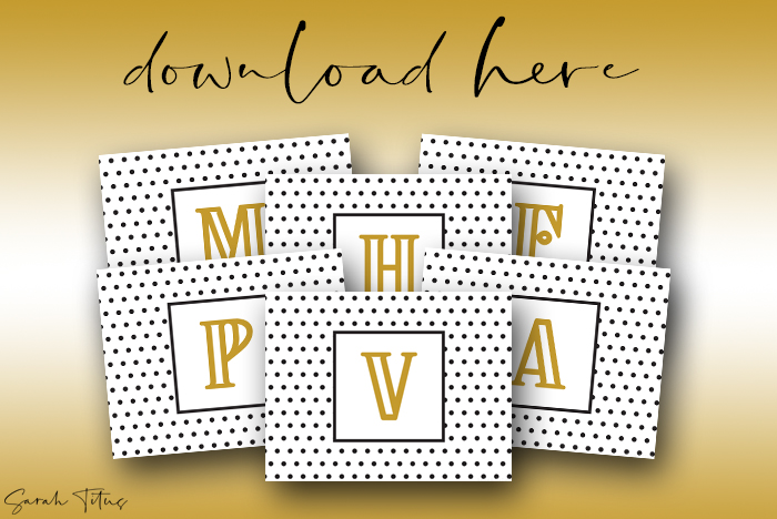 Fabulous Monogram Wall Art Printables Free For All Rooms In Your Home