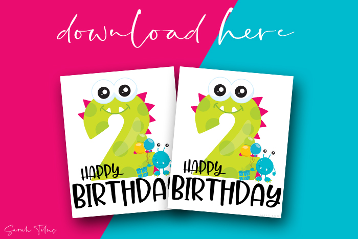 Fun Birthday Monsters Free Printable DIY Wall Art