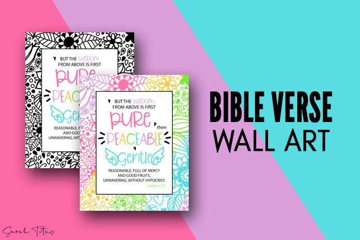 Gorgeous Wall Art James Bible Verse Printables For You