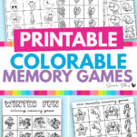 Here are the cutest free printable memory games for kids and for adults to enjoy too! These black and white templates are colorable and include sea animals, farm animals, fairies and more!