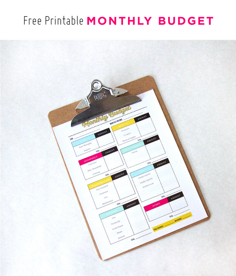 Getting into the habit of budgeting can take some time but if you decide to take this step, try this detailed monthly budget sheet. It will make everything much easier!