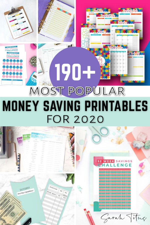 Do you want to save money in 2020? Here are the most popular and FREE money-saving printables worksheets for 2020 to help you start on your path to managing your personal finances and fueling your savings fund! From organizing your day to joining a no-spend challenge, budgeting and working out of your debt and more, these easy and simple printable templates will help you put a bit of extra cash aside for rainy days! #DaveRamsey #beginners