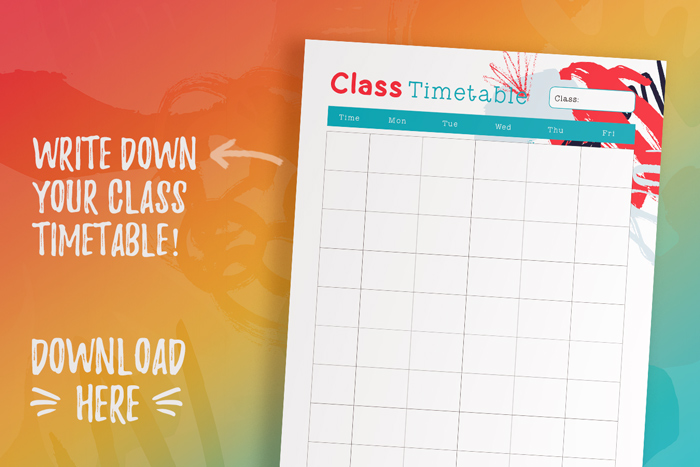 Free Class Timetable_Student Planner